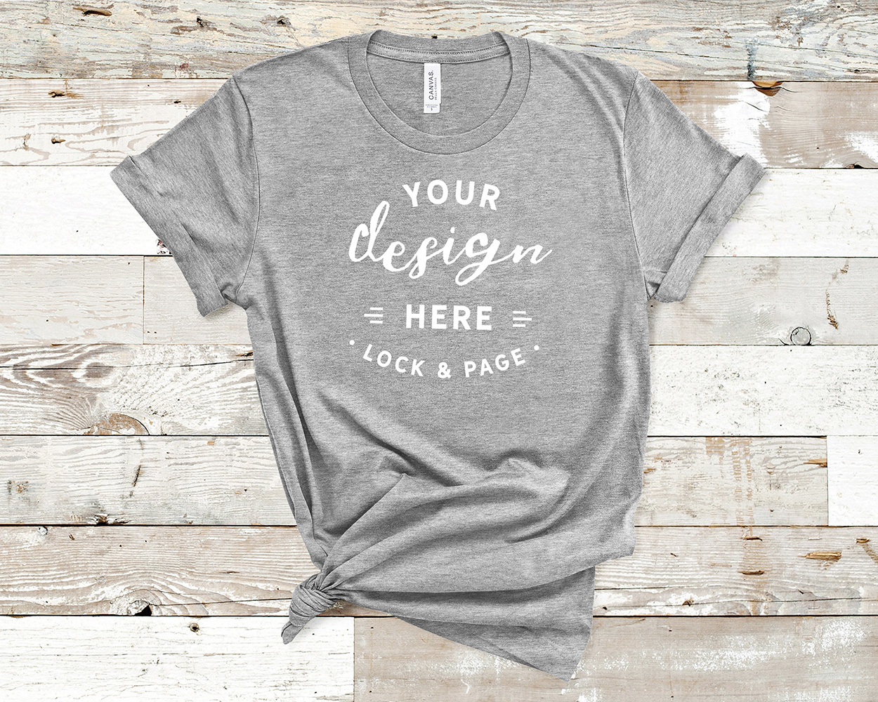 Bella Canvas 3001 Mockup T-Shirt Bundle All Colors On Wood example image 3