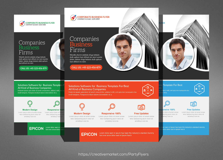 Corporate Business Flyer Bundle example image 6