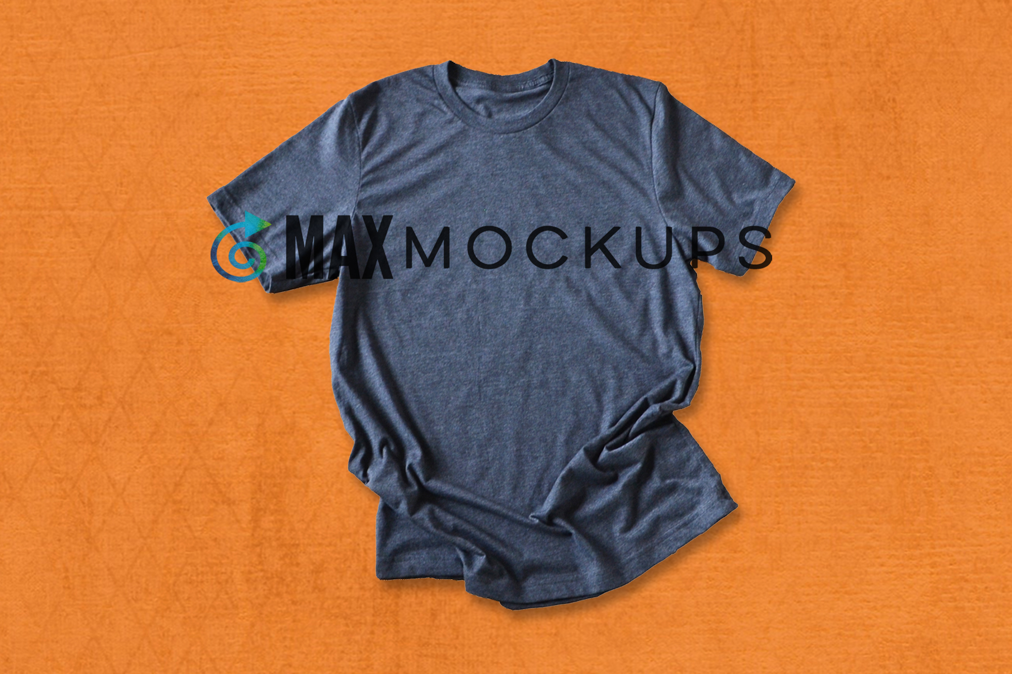 Gray shirt mock up, Halloween or Fall orange, stock photo example image 1