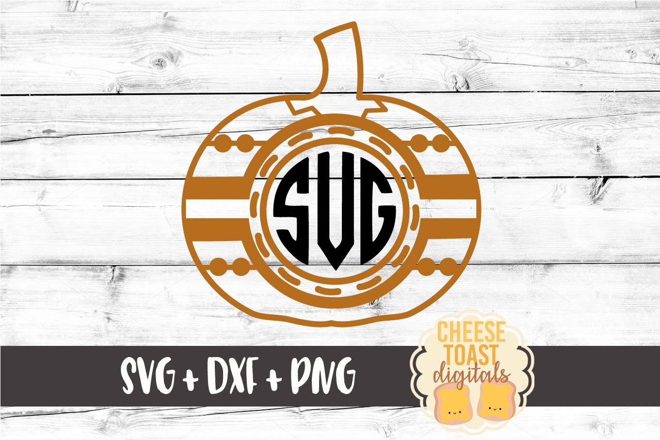 Monogram Pumpkin Frame - Fall SVG File - Monogram SVG example image 2