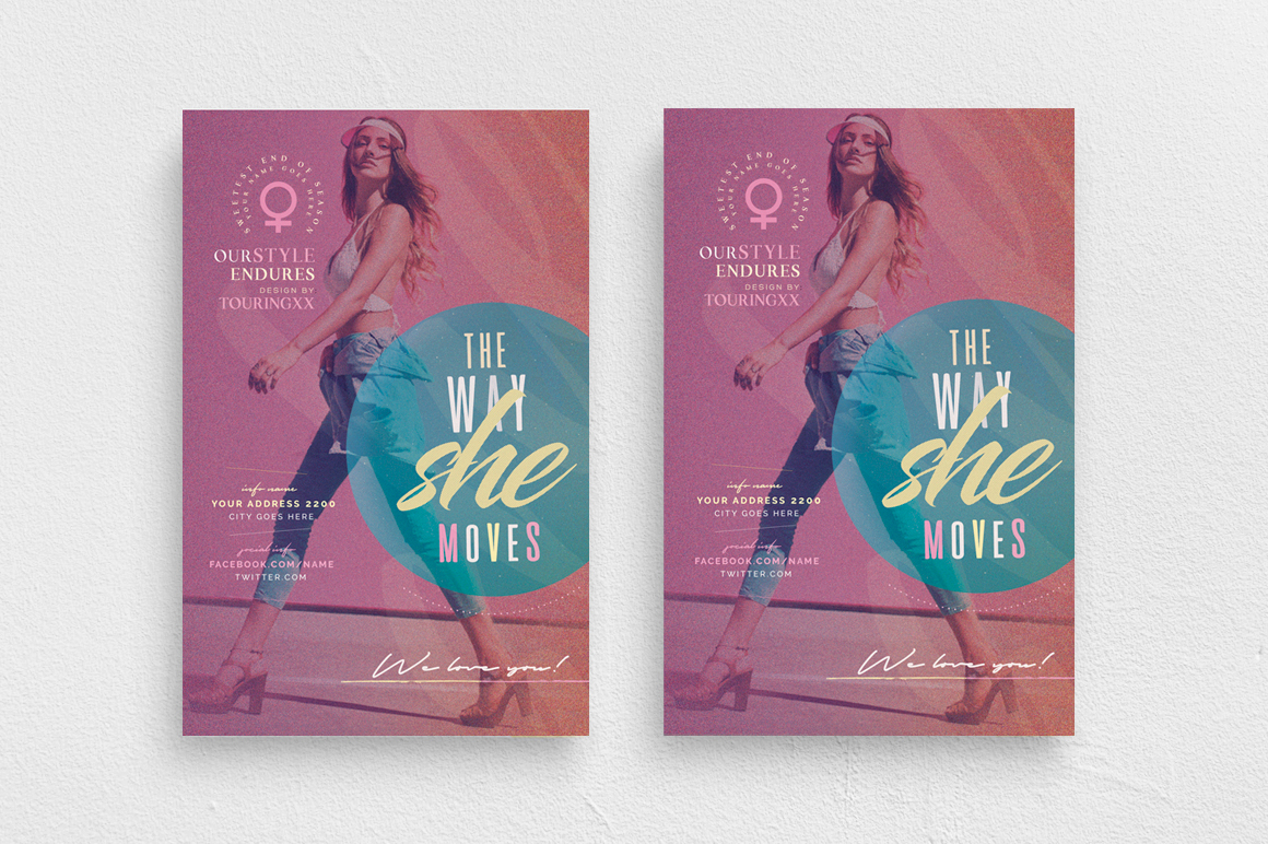 The Way She Moves Flyer Template example image 1