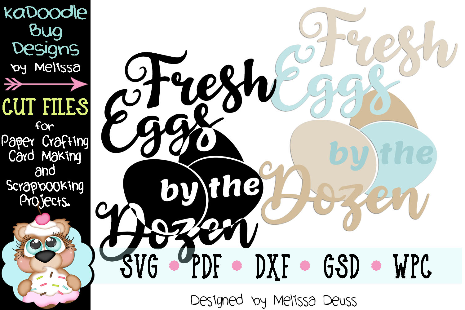 Fresh Eggs by the Dozen Vertical Cut File - SVG PDF DXF GSD example image 2