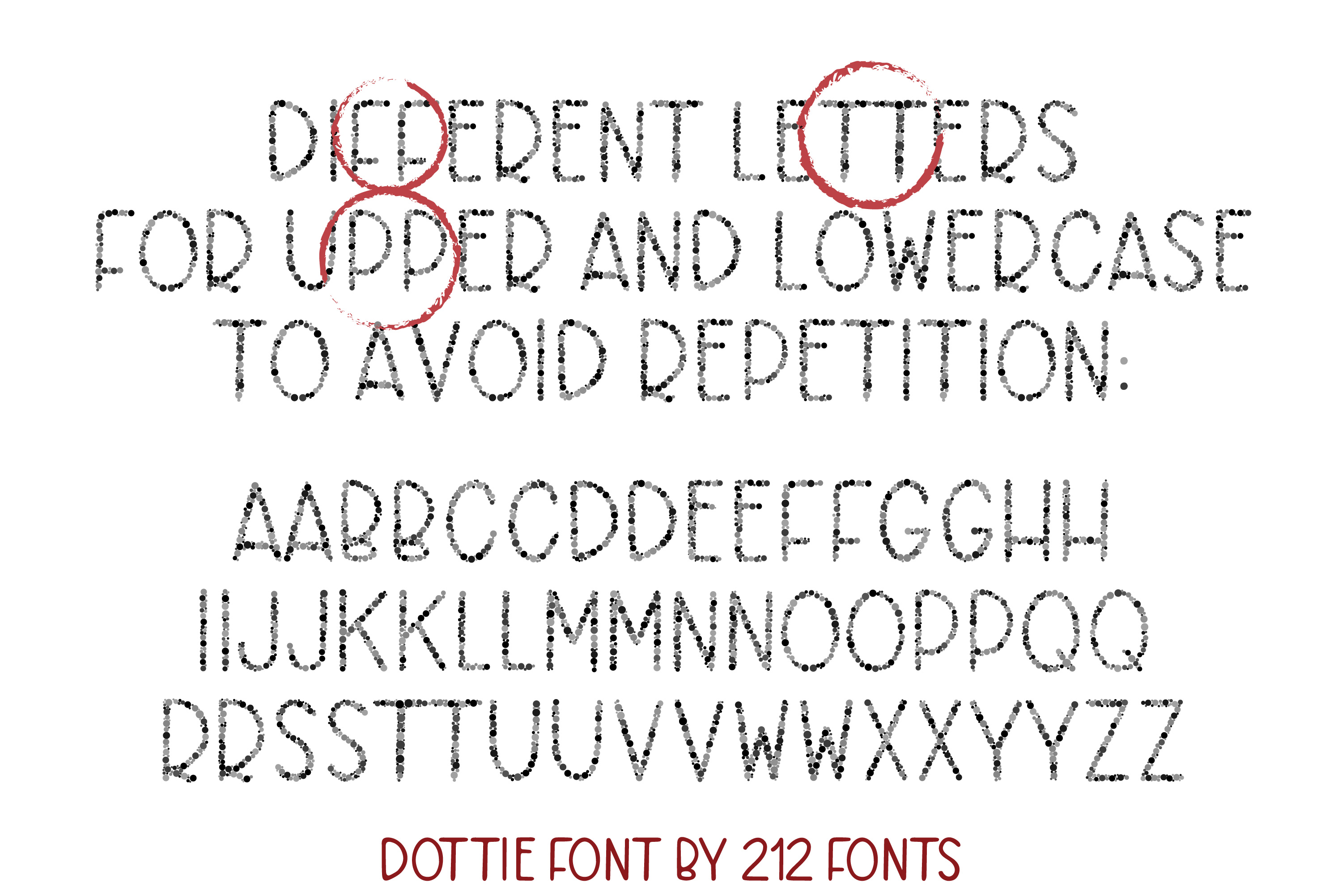 Dottie Color OTF SVG Font Family in 20 Color Variations example image 3