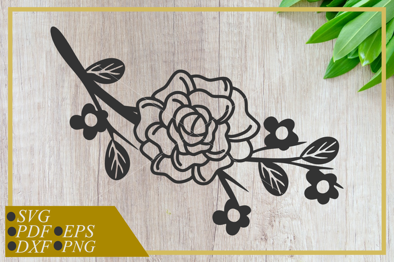 Roses svg, flowers with twigs, instant download, cut file example image 1