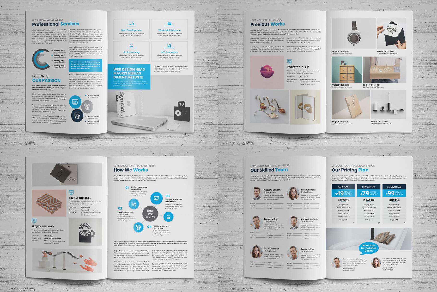 Portfolio Bifold Brochure Design v1 example image 11