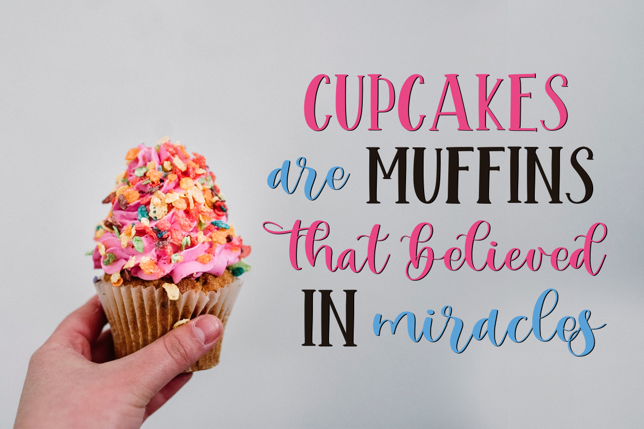 Mint Cupcake Font Duo example image 2