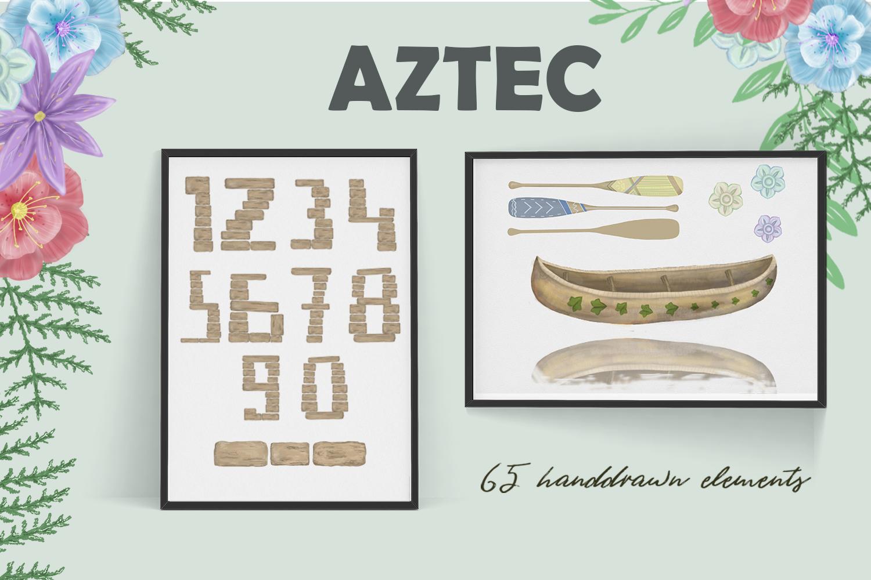 Aztecs. Tribal Set. part2 example image 5