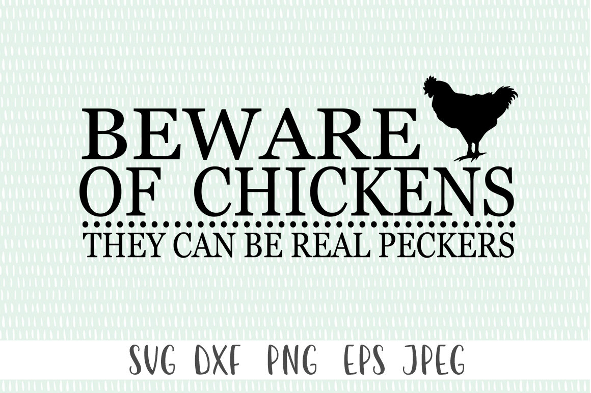 Farmhouse Wooden Sign - Beware Of The Chickens example image 2