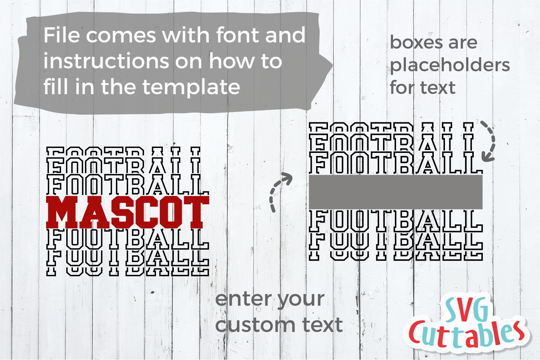 Football Template 0042   Football svg cut file example image 2
