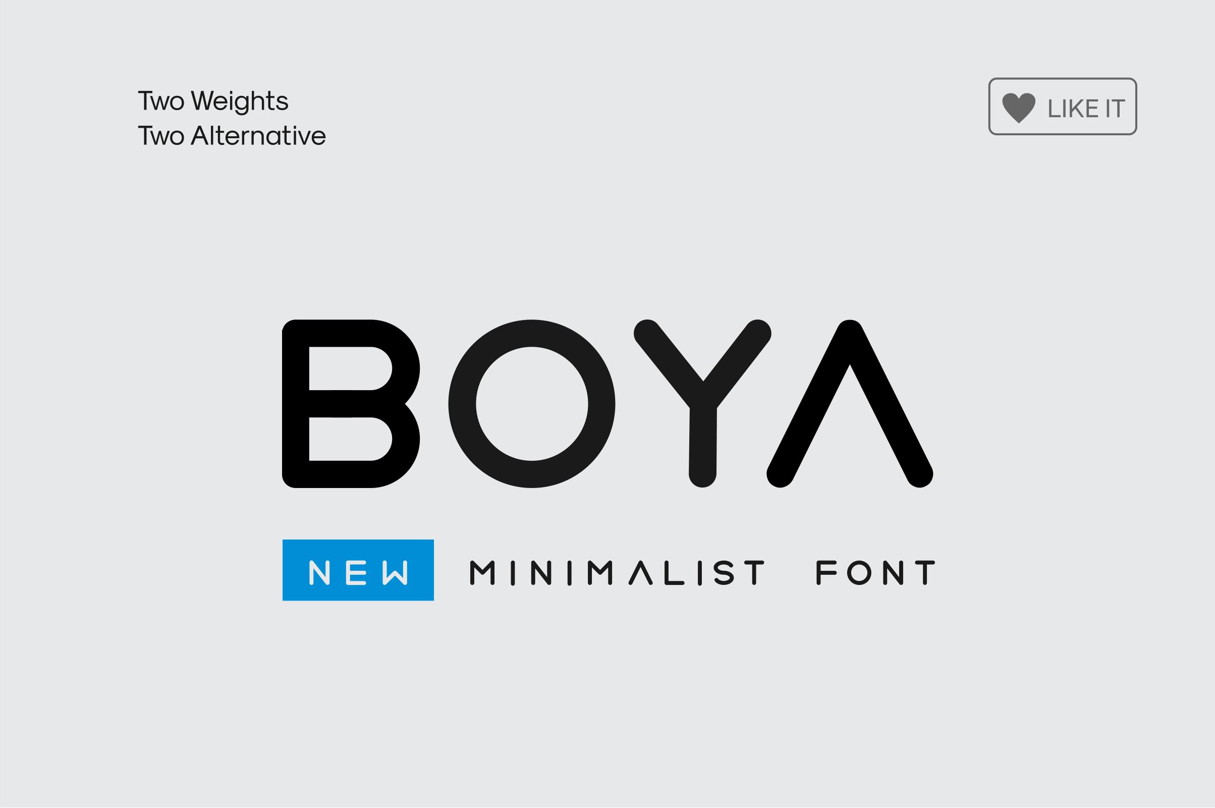 BOYA (rounded Font) example image 1
