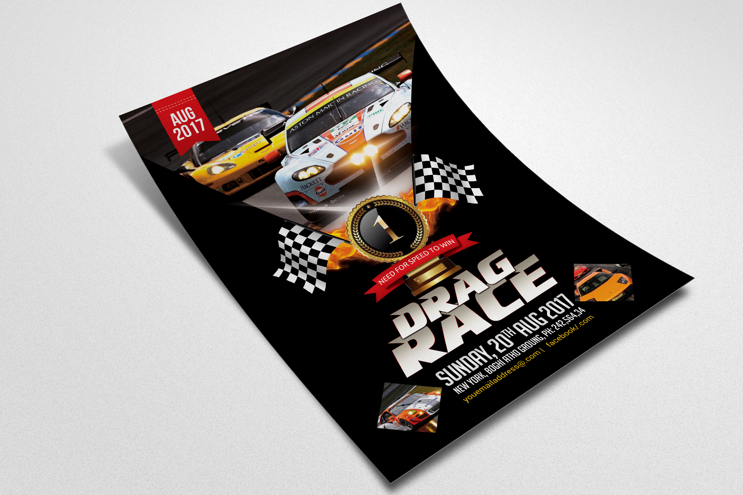 Car Racing Flyer Template example image 2