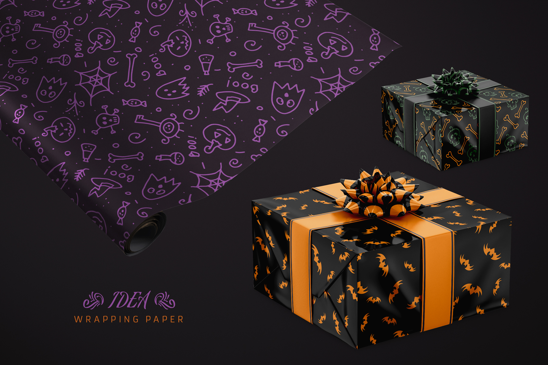 100 Seamless Patterns Vol.3 Halloween example image 18