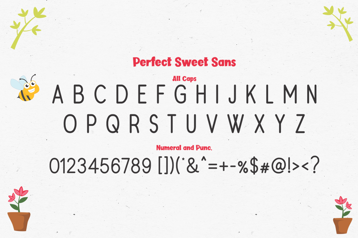 Perfect Sweet - Font Trio and 150 Colourful Vectors example image 16