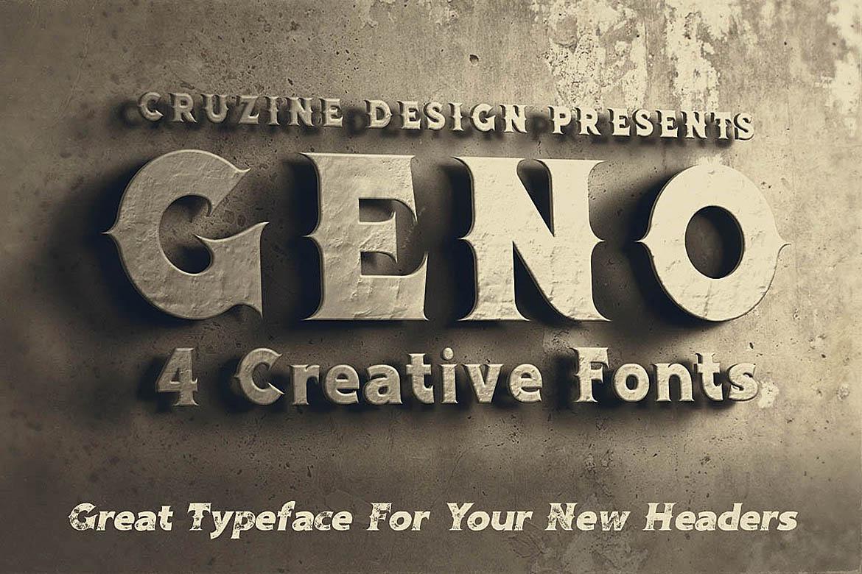 Geno Typeface example image 2