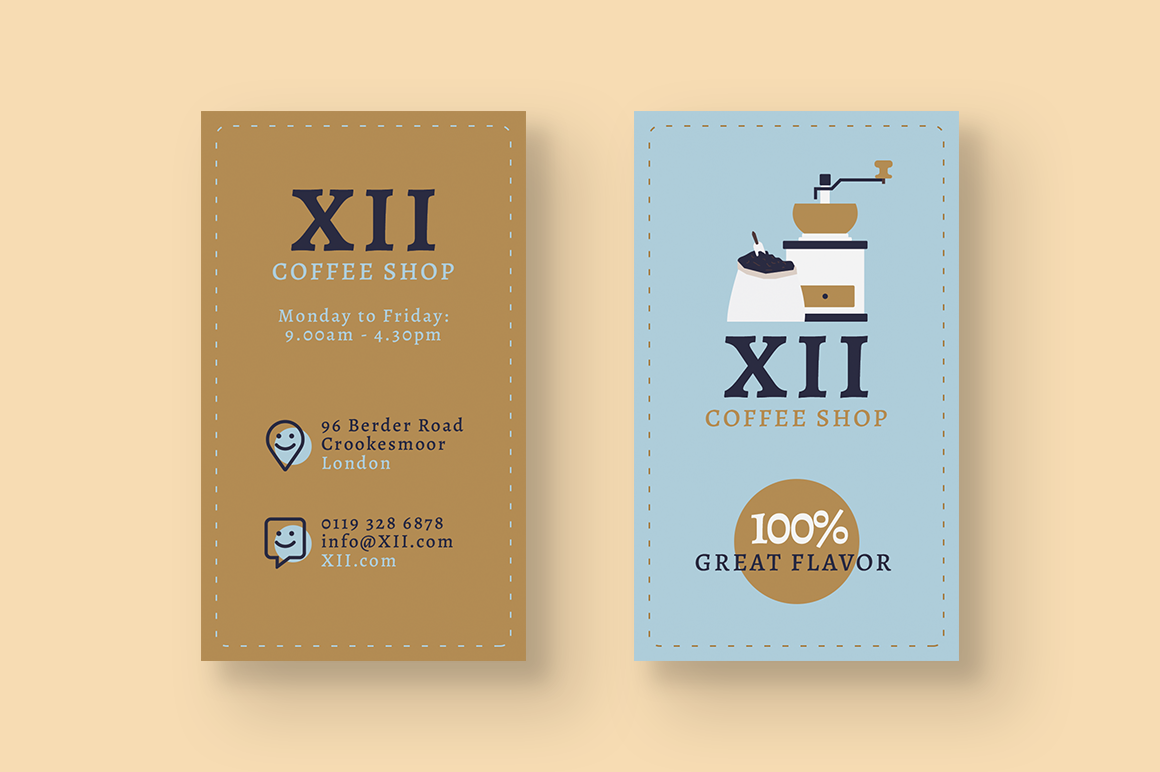 Coffee Shop Business Cards example image 3