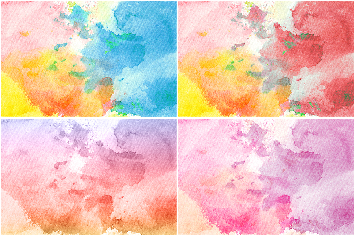 50 Watercolor Backgrounds 02 example image 8