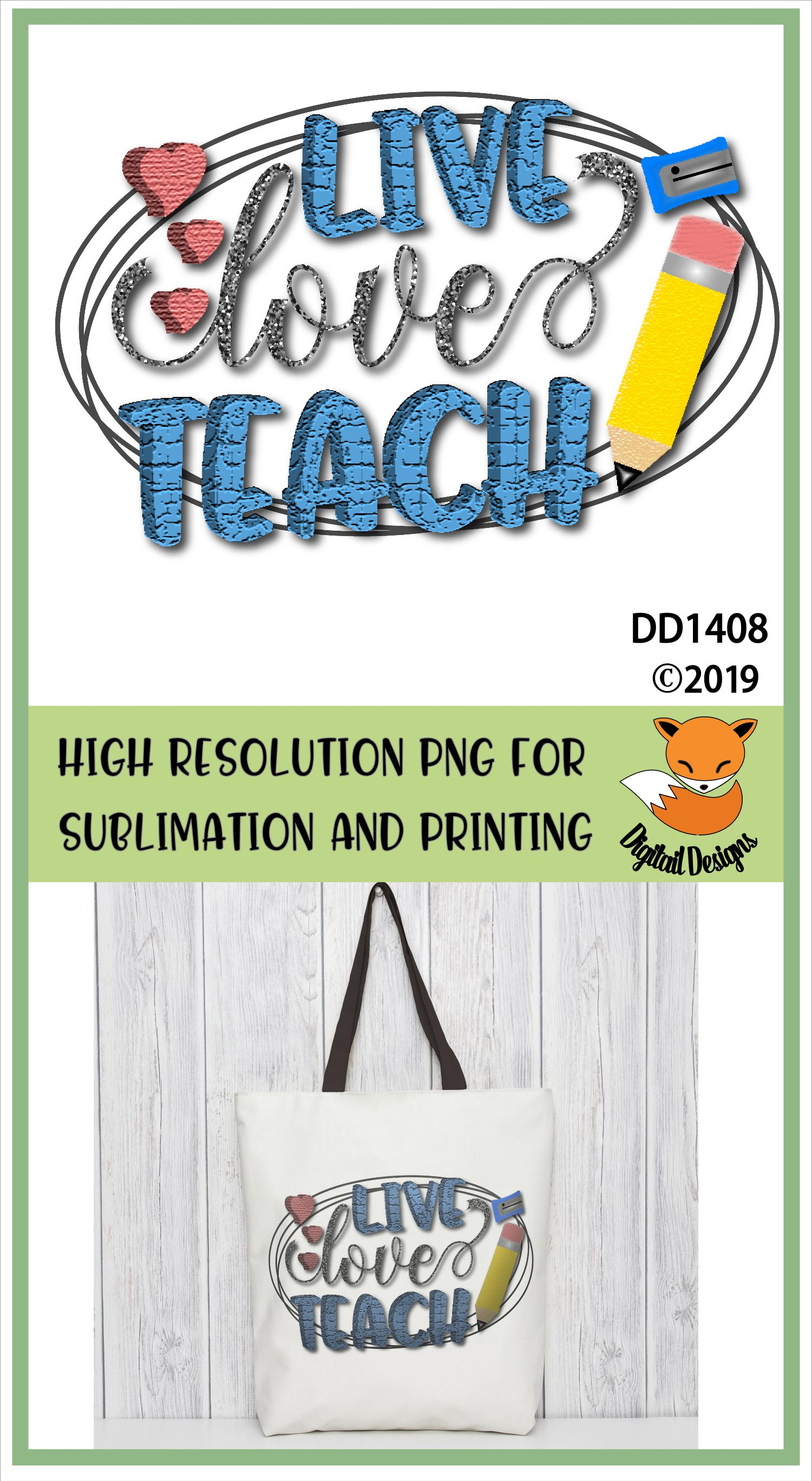 Teacher PNG for Sublimation example image 2