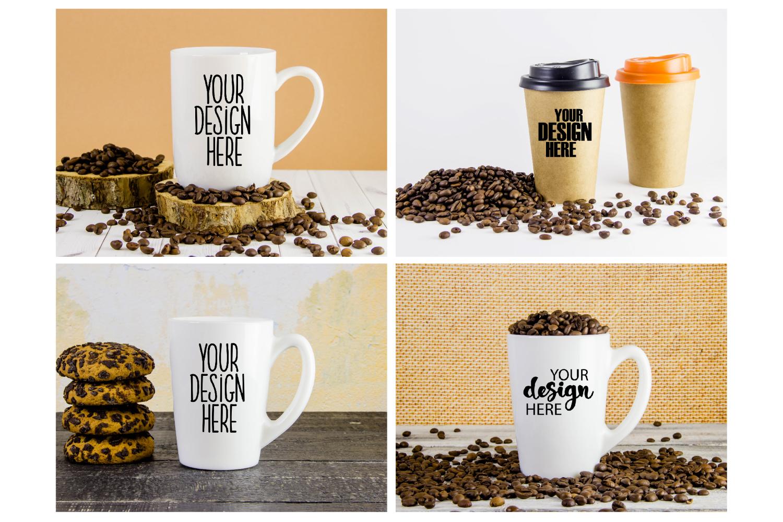 Mug mockup bundle 5, coffee cup, stock photo bundle example image 3