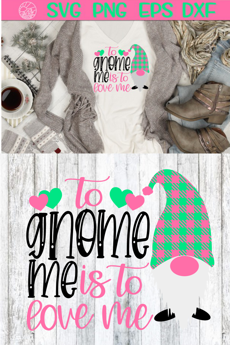 Gnome Me - Love Me - Valentine's Day - Heart - SVG PNG EPS D example image 2