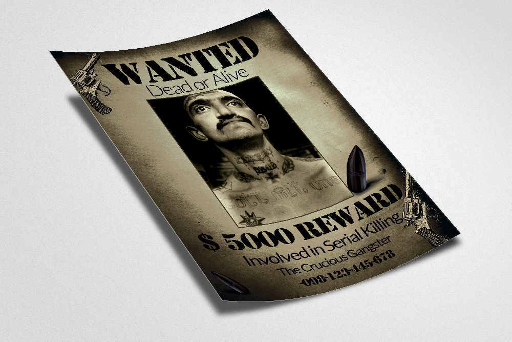 Vintage Wanted Poster Flyer Template example image 2