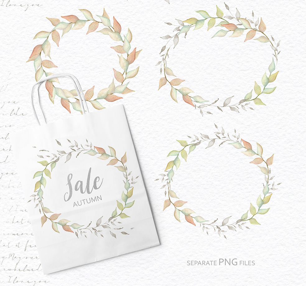 15%OFF. Watercolor Floral Collection example image 11