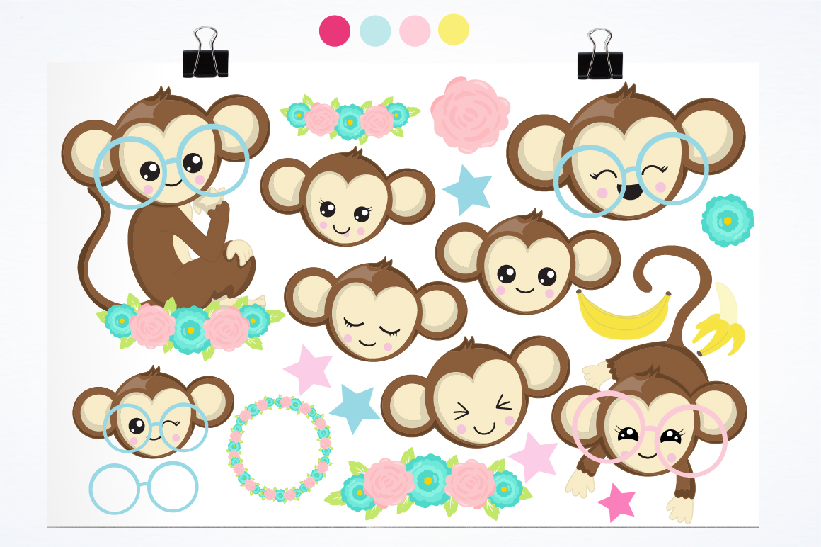Cutie Monkeys graphics and illustrations example image 2