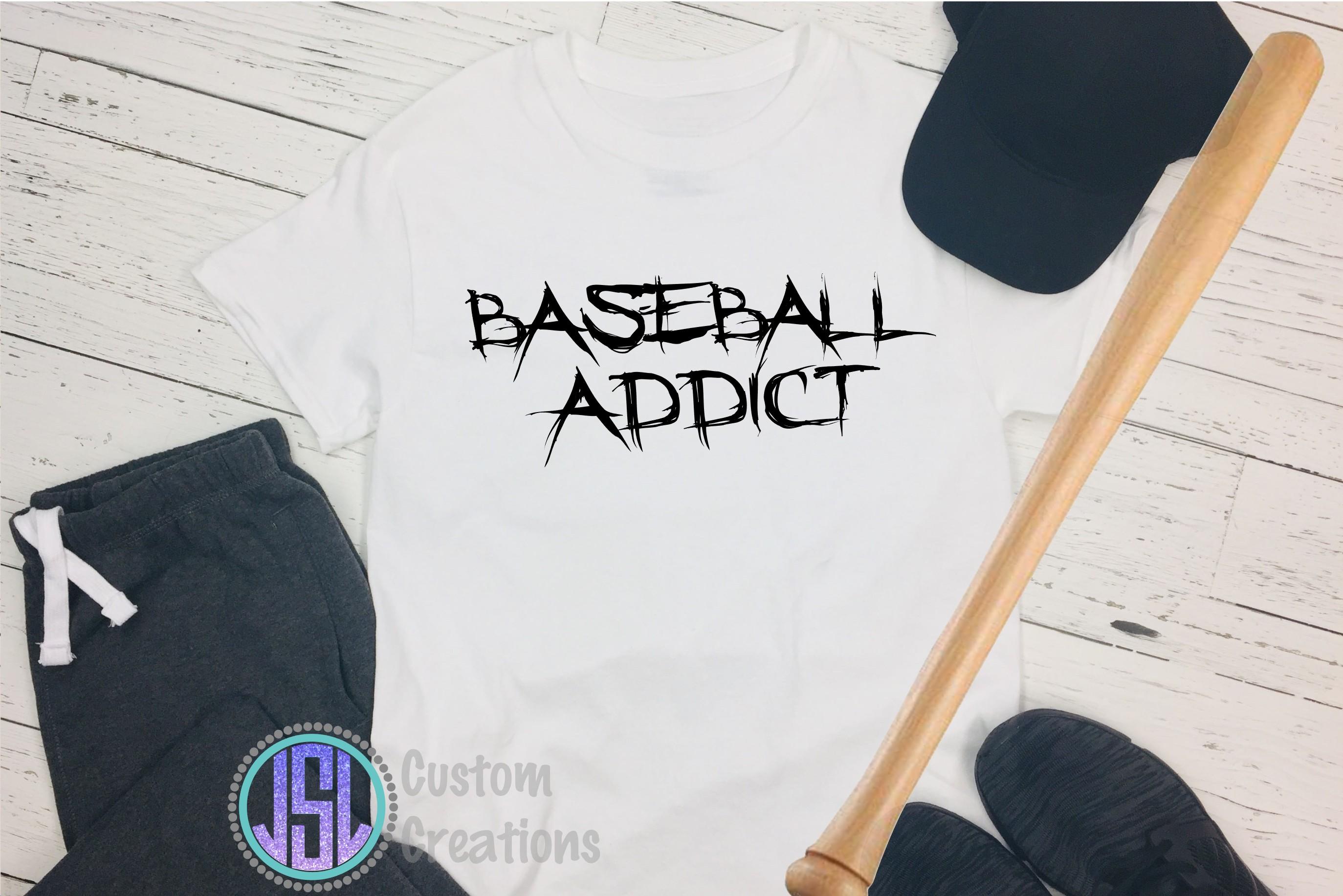 Baseball Addict |SVG DXF EPS PNG Digital Cut File example image 2