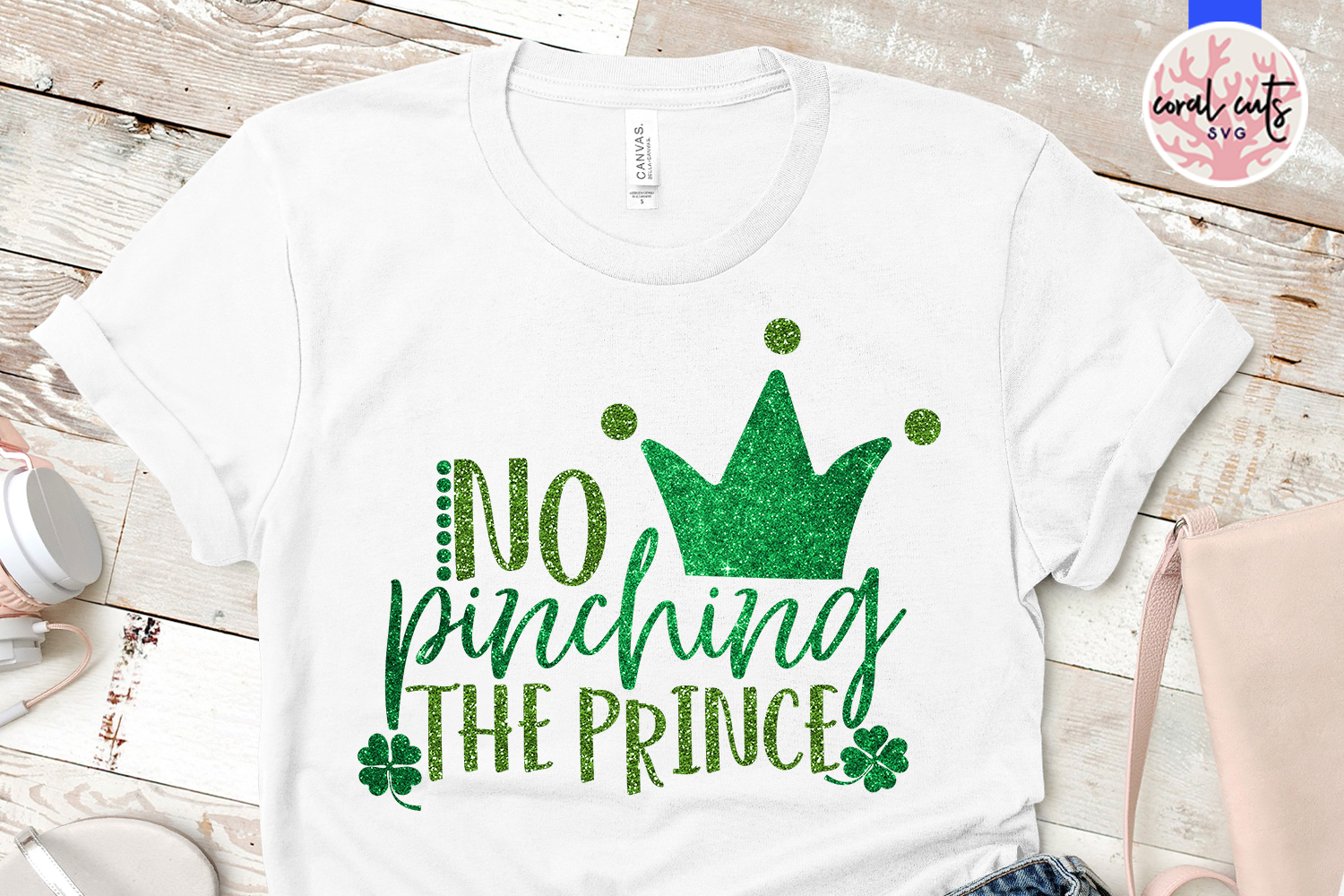 No pinching the prince - St. Patrick's Day SVG EPS DXF PNG example image 2