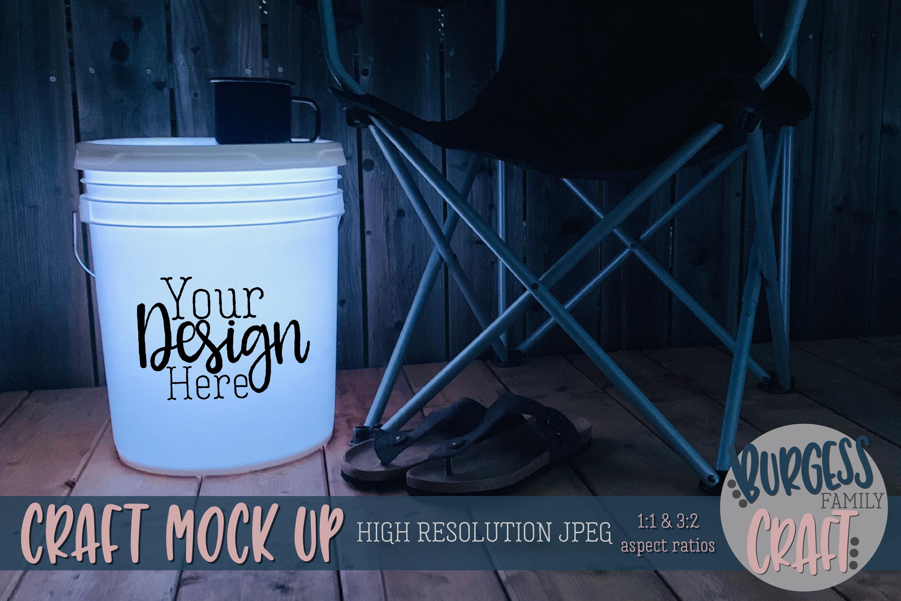 Bundle of Camping bucket mock ups |High Resolution JPEG example image 10