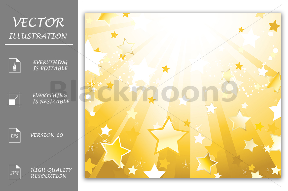 Radiant Background with Stars example image 1