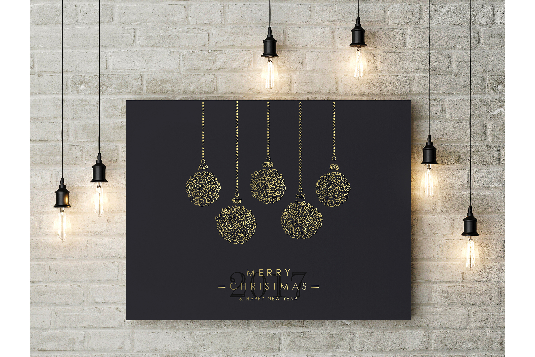 Christmas Gold Line Art Set example image 6