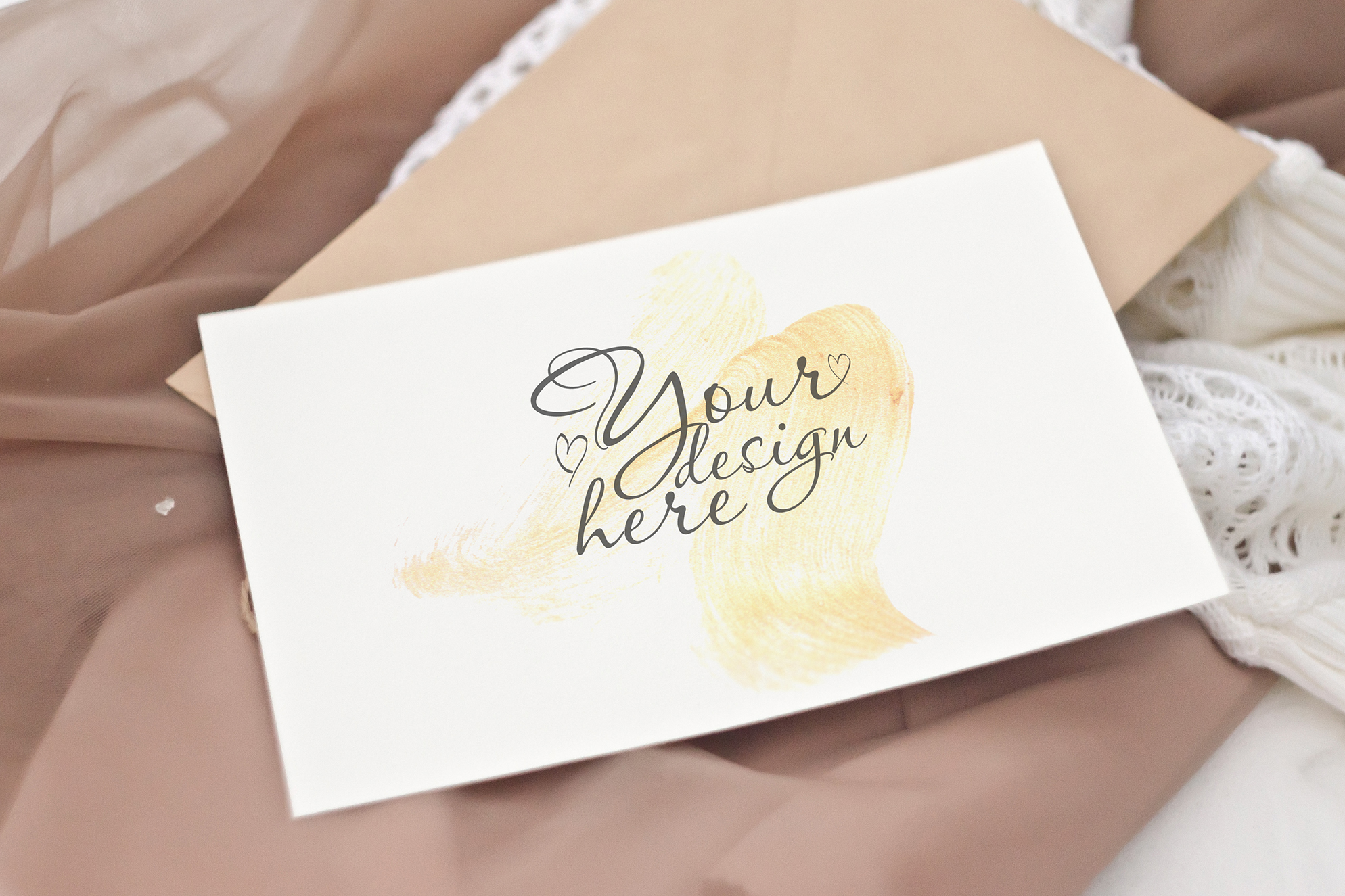 Cappuccino. Stationery Mockup Card example image 5