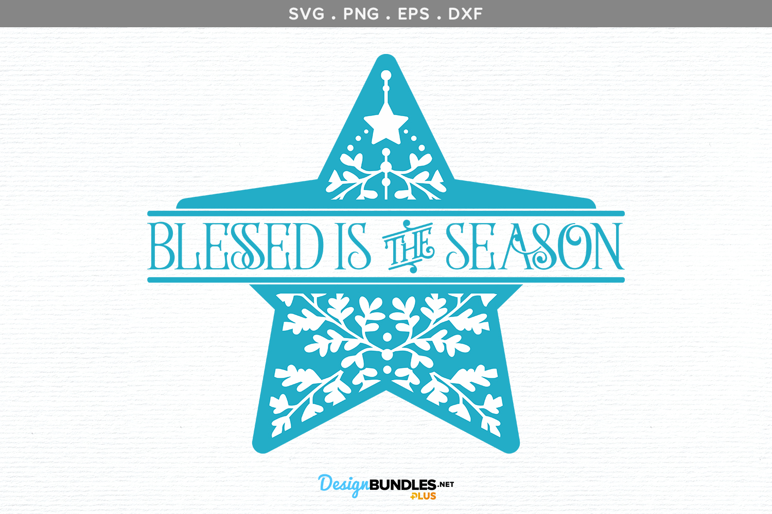 Blessed is the Season - svg, printable example image 2