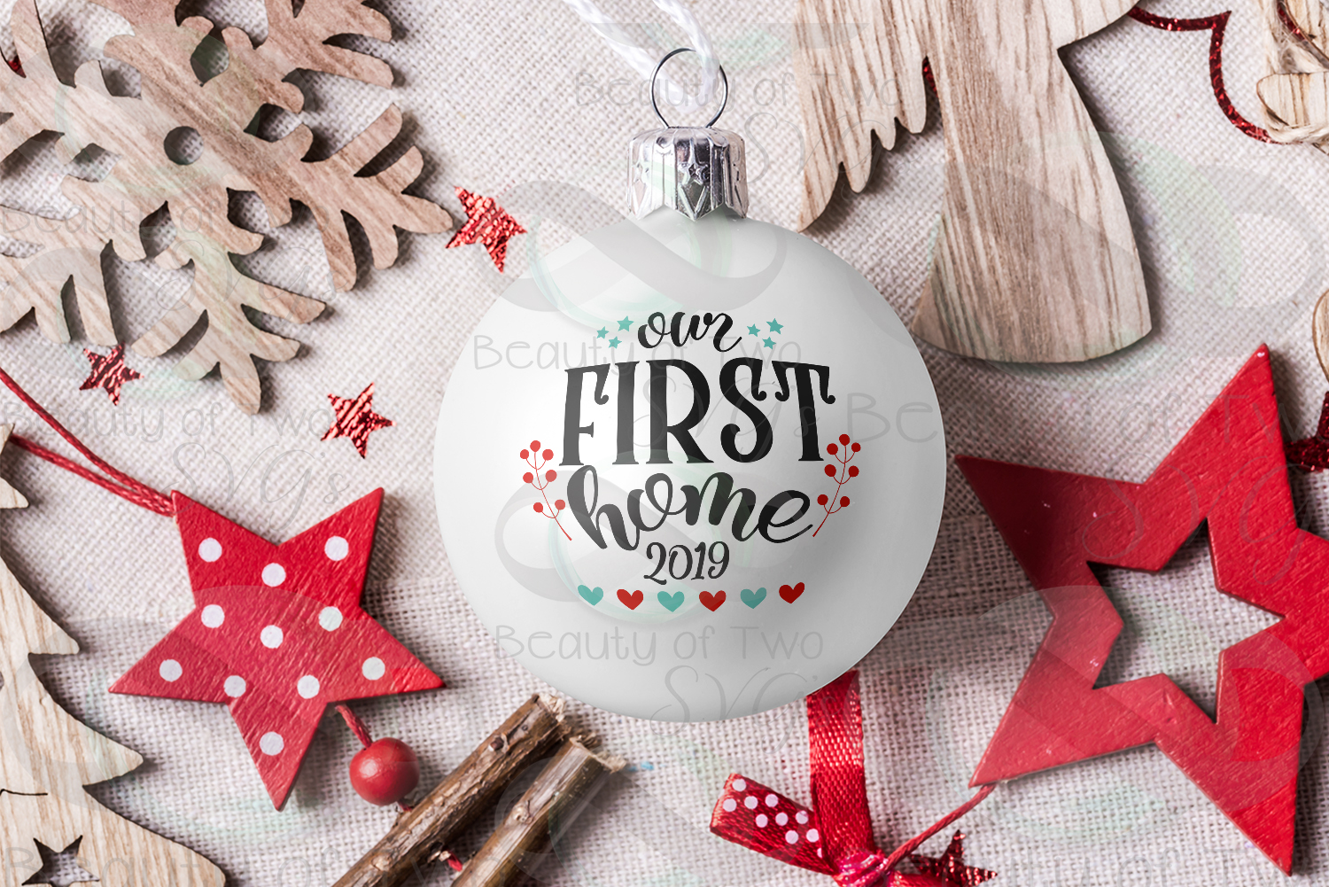Christmas Ornament Our first Home 2019 svg, Realtor svg example image 1