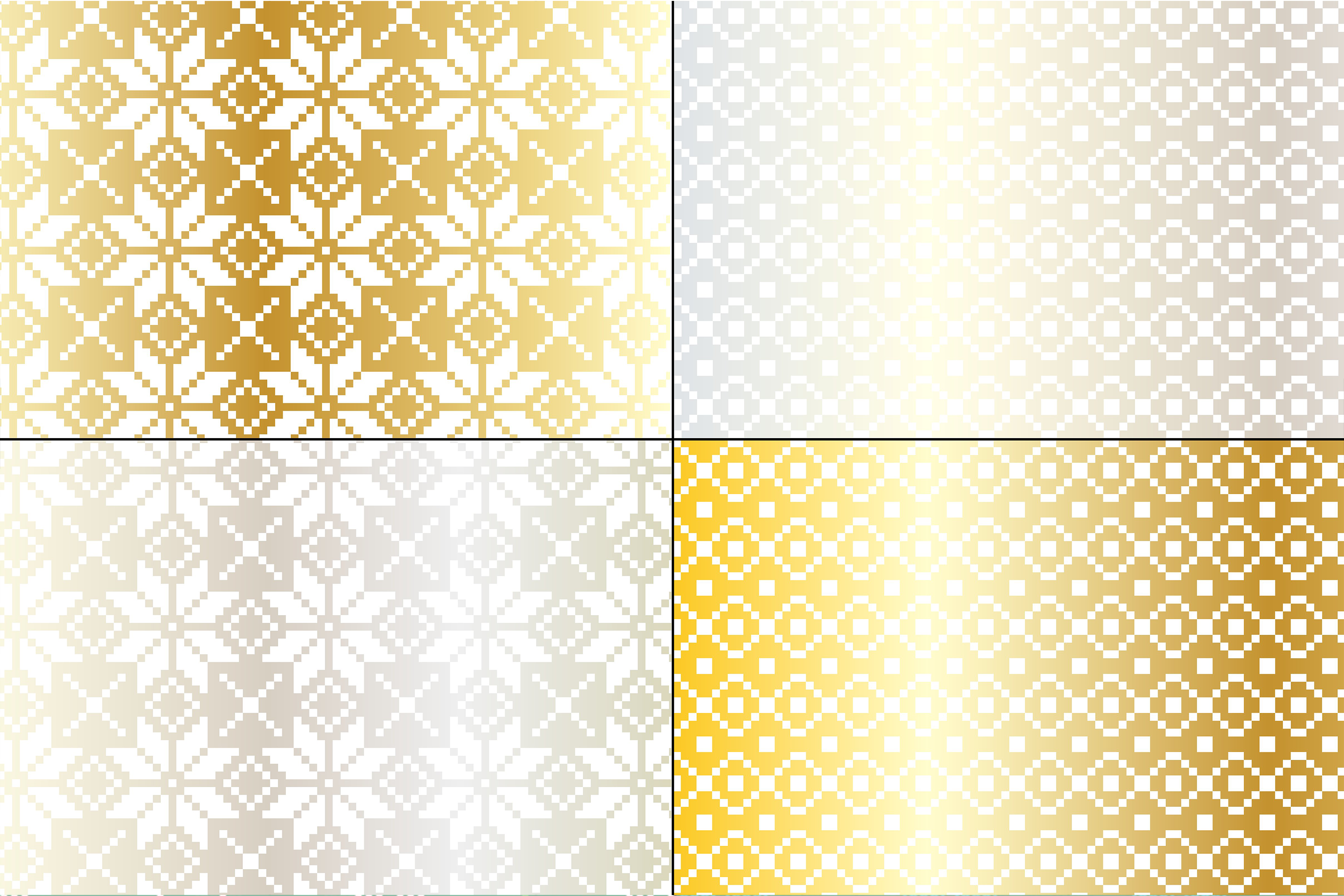 Silver & Gold Nordic Patterns example image 3