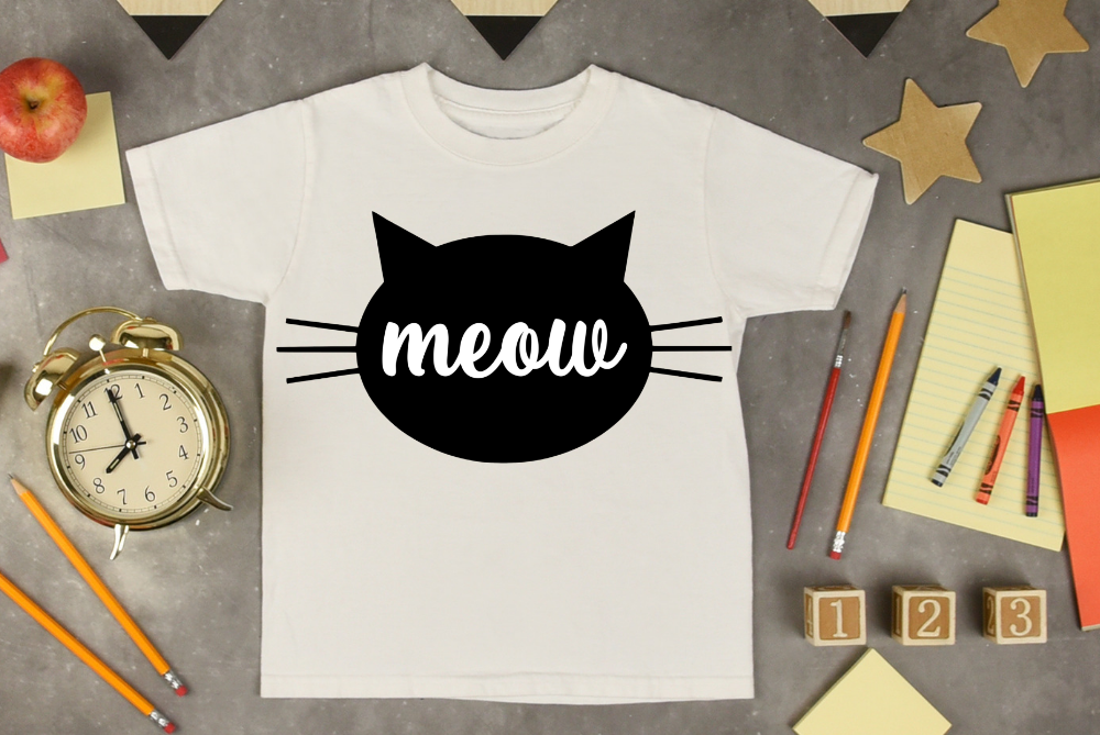 Meow Cat svg, funny cat svg cut file, funny cat shirt svg example image 2