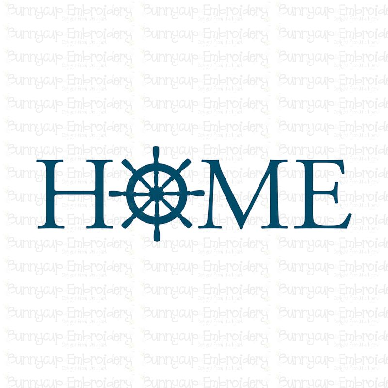 Home With Ship Wheel - SVG, Clipart, Printable example image 2