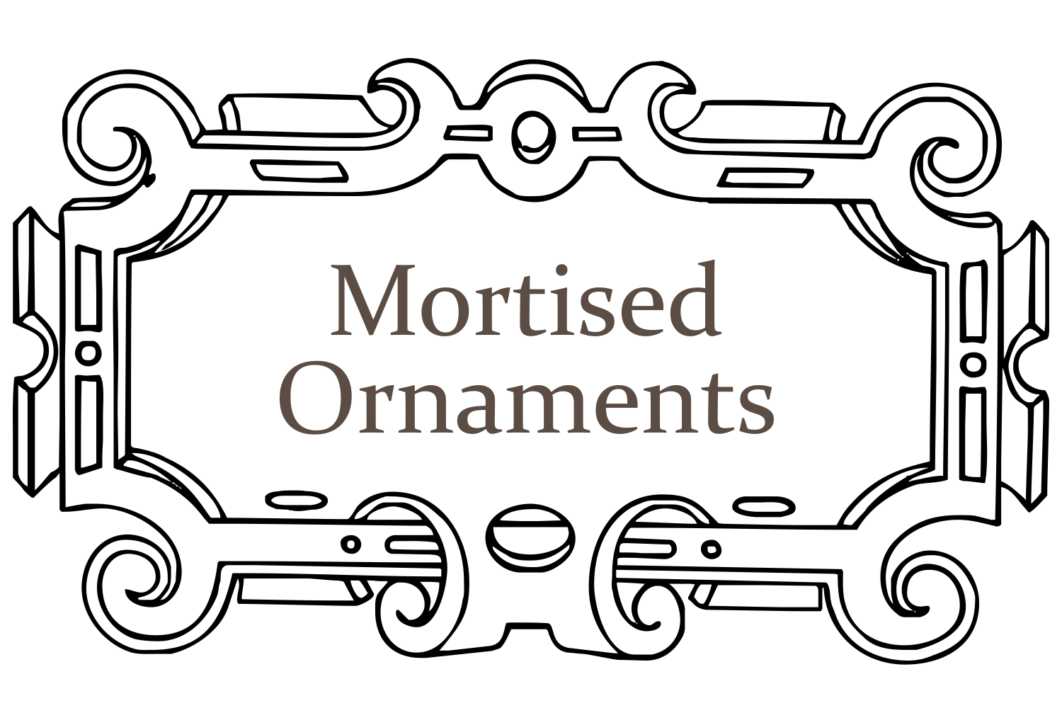 Mortised Ornaments example image 1