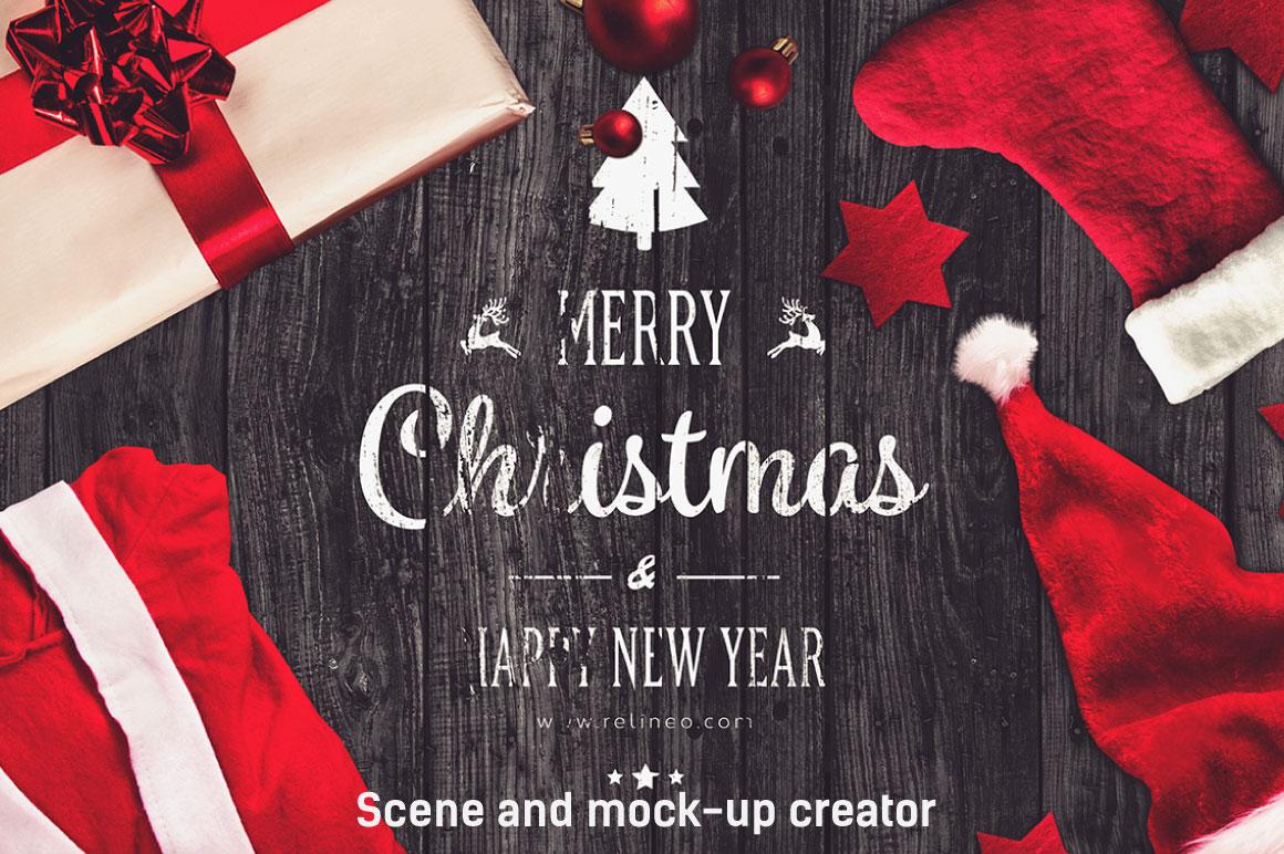 Christmas Scene and Mock-up Creator #2 example image 1