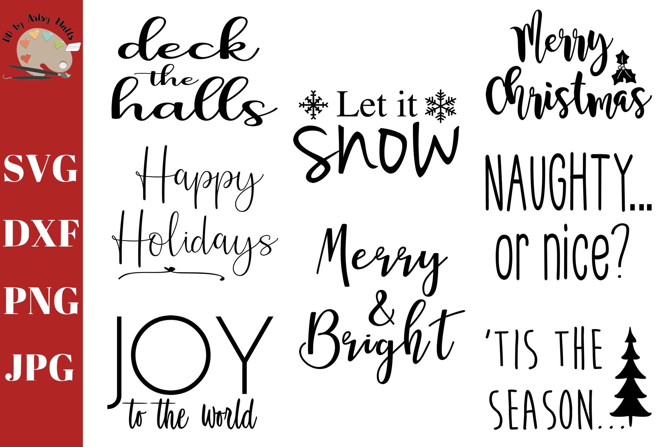Christmas Sayings Mini Bundle, Christmas signs svg cut file example image 3