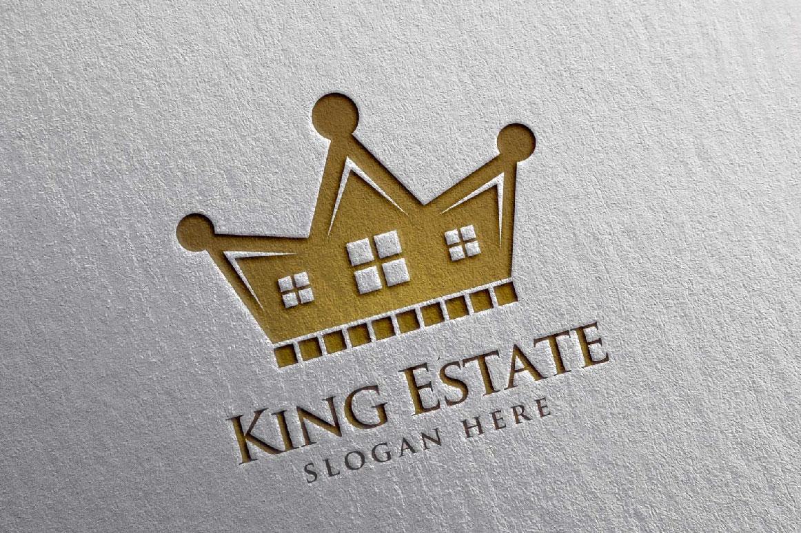 Real Estate Logo, King Estate Logo example image 2