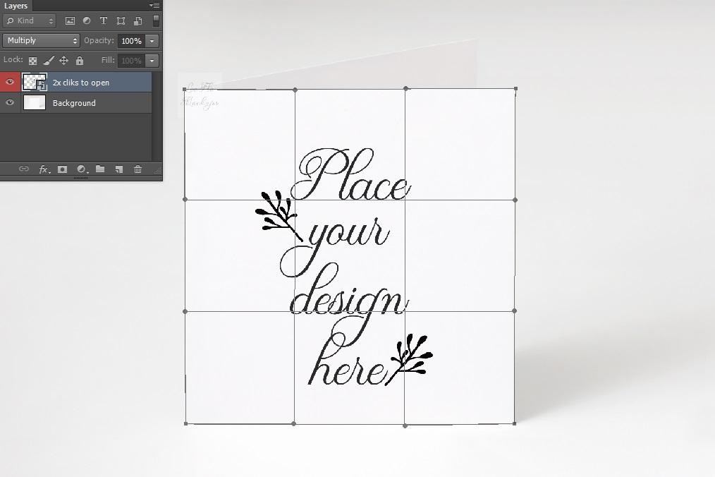 Square Greeting Card Mockup psd ivitation stationery mock up example image 2