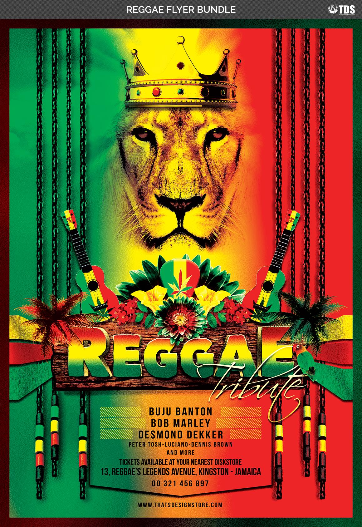 Reggae Flyer Bundle example image 6