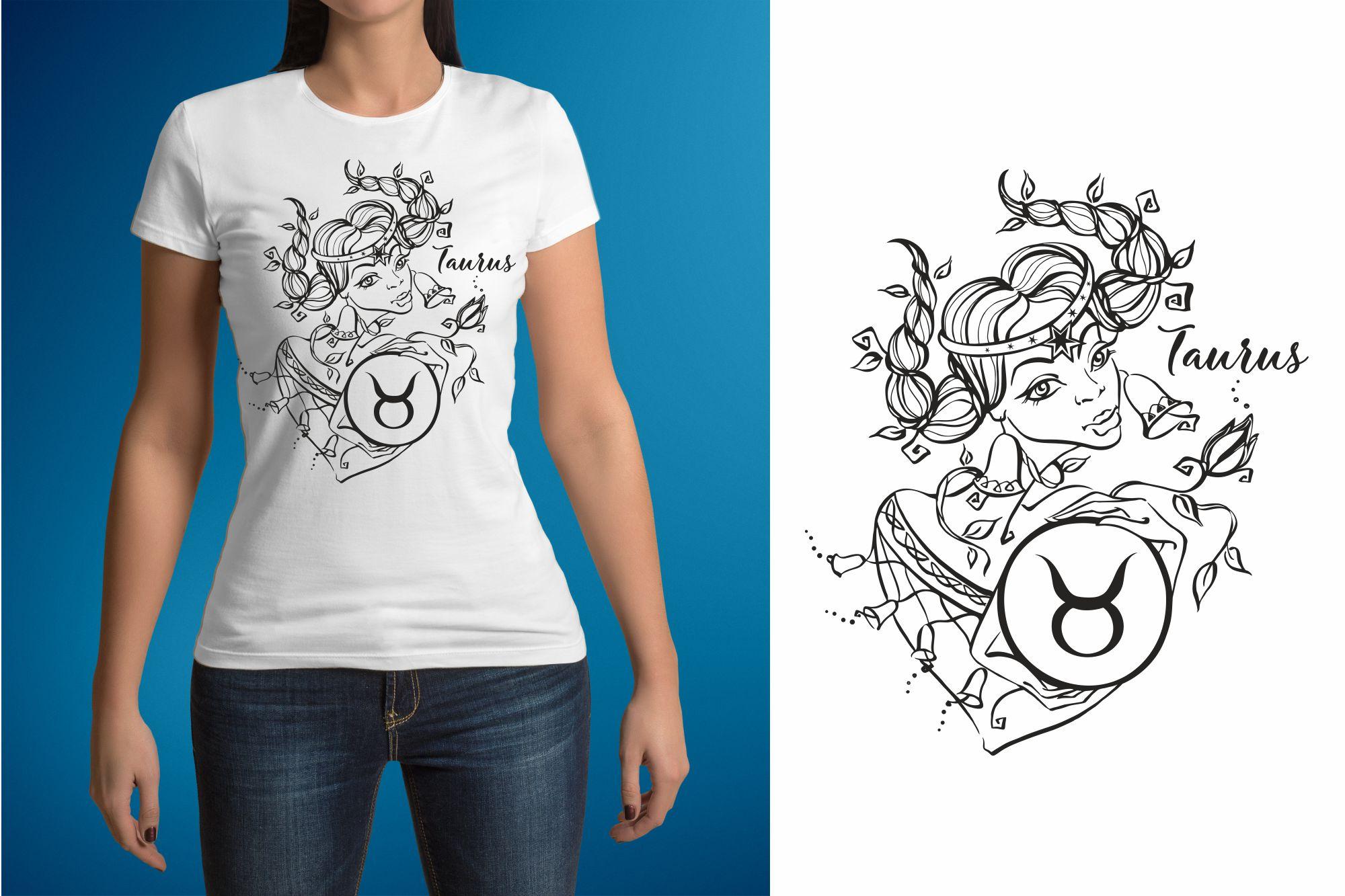 Taurus zodiac sign. Female image. example image 3