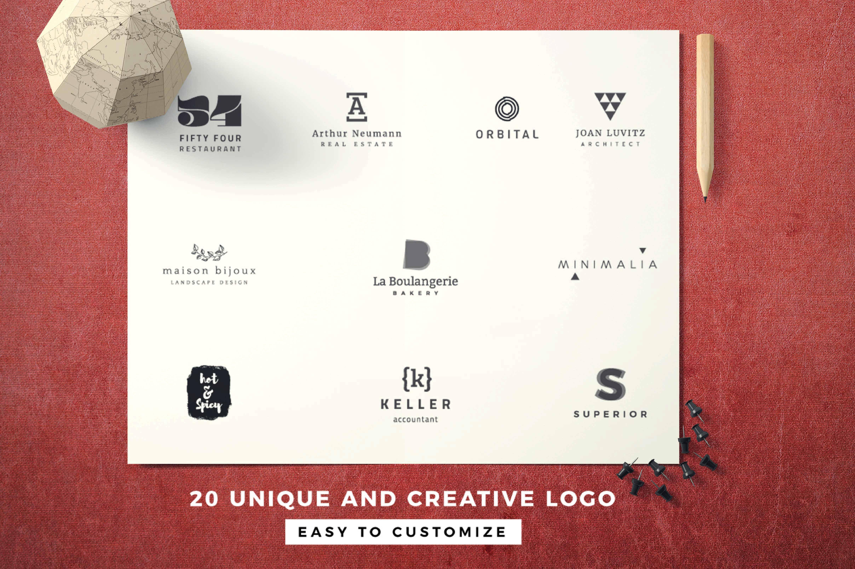 Modern logo template hype vol.02  example image 7