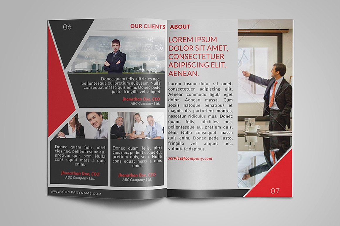 8 Page Corporate Bifold Brochure example image 4
