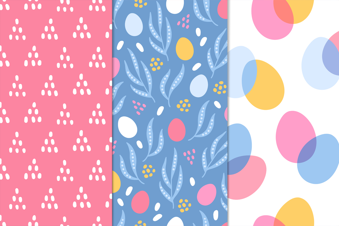 12 Easter Seamless Patterns example image 2
