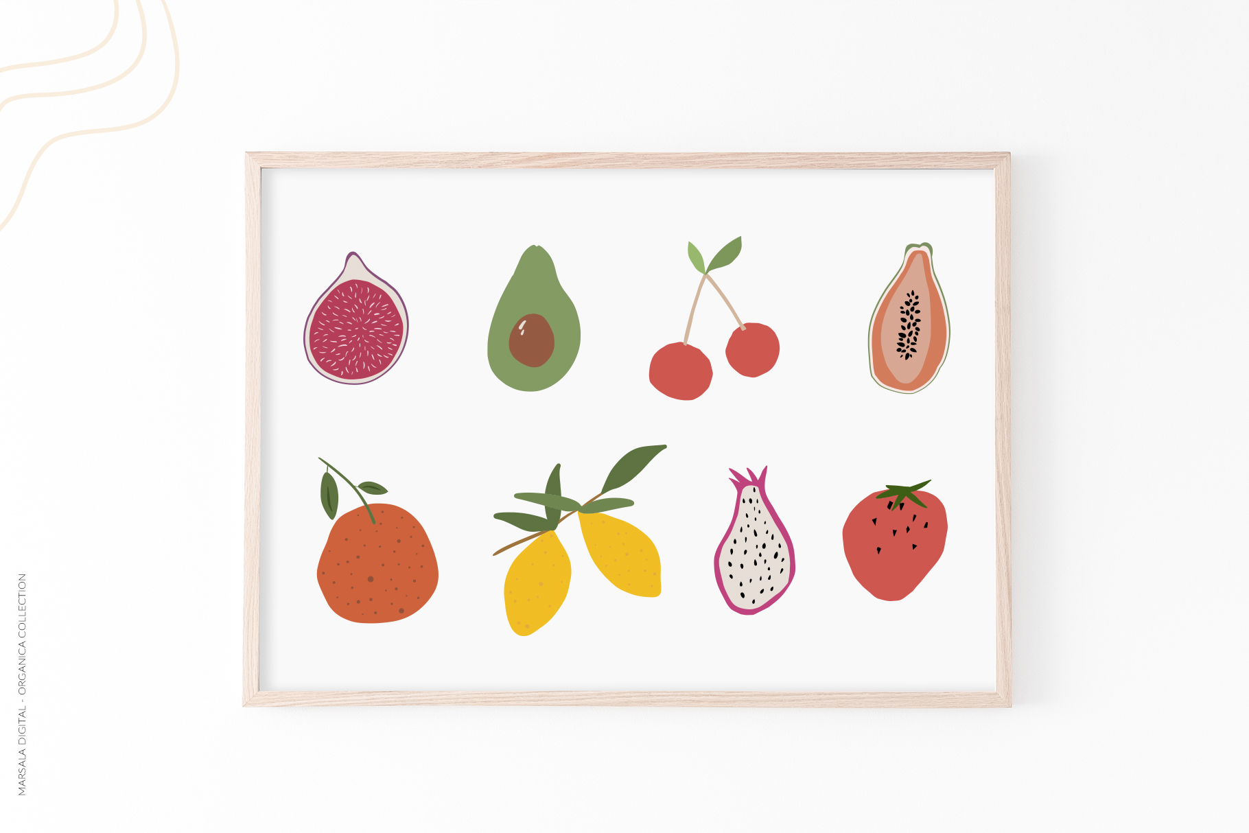 Abstract Shapes & Fun Fruits Patterns and Graphics example image 5
