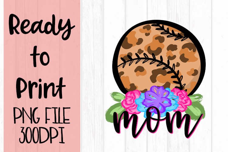 Doodle Mom Baseball Ready to Print example image 1