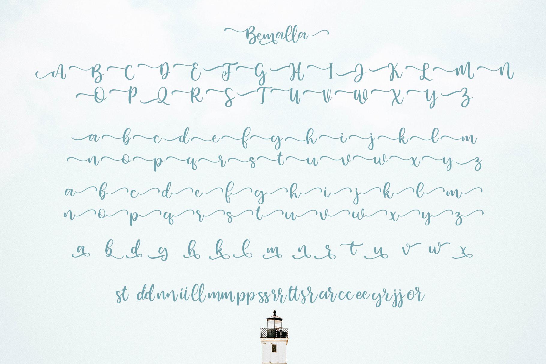 Bemalla Font example image 6